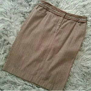 Philosophy brown pin strip pencil skirt.